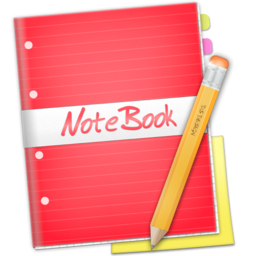 256x256px size png icon of Red NoteBook