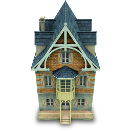 256x256px size png icon of Old House