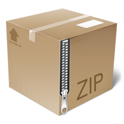 256x256px size png icon of PackageIcon   Zip