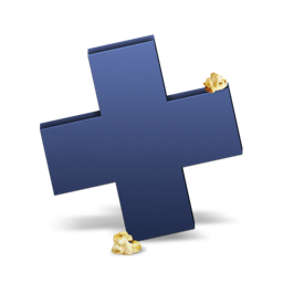 256x256px size png icon of Plus