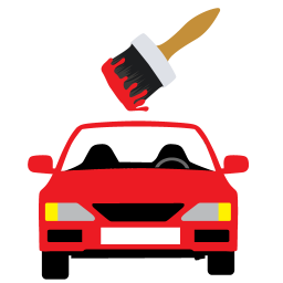 256x256px size png icon of Car Painting