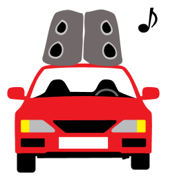 256x256px size png icon of Car Sound