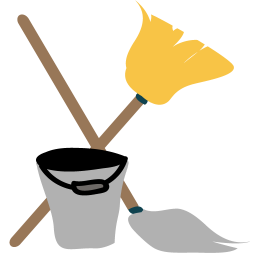 256x256px size png icon of Cleaning