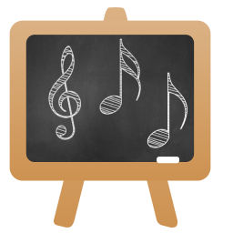 256x256px size png icon of Music Lesson