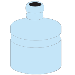 256x256px size png icon of Water Bottle