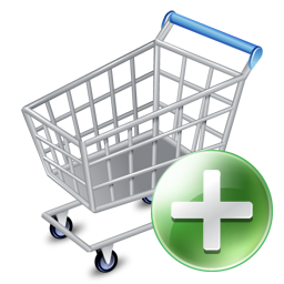 256x256px size png icon of shop cart add