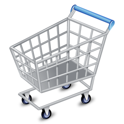256x256px size png icon of shop cart