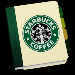 256x256px size png icon of StarbucksAddressBookV1 by chekkz