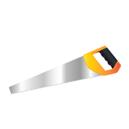 256x256px size png icon of Hand Saw