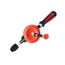 256x256px size png icon of Manual Drill
