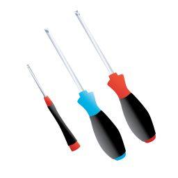 256x256px size png icon of Screw Screwdriver
