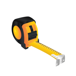 256x256px size png icon of Tape Measure