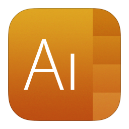 256x256px size png icon of Adobe Illustrator