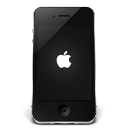 256x256px size png icon of iPhone Black Apple