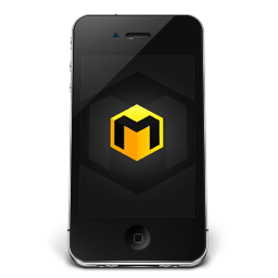256x256px size png icon of iPhone Black Musett