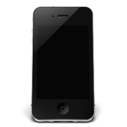 256x256px size png icon of iPhone Black Off