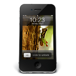 256x256px size png icon of iPhone Black W1