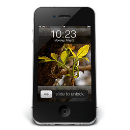 256x256px size png icon of iPhone Black W2