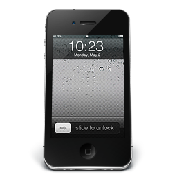 256x256px size png icon of iPhone Black iOS