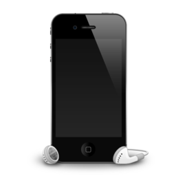 256x256px size png icon of iPhone 4G headphones shadow