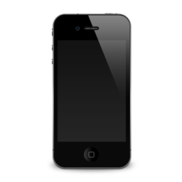 256x256px size png icon of iPhone 4G shadow