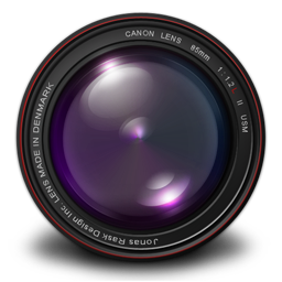 256x256px size png icon of Aperture 3 Authentic Purple
