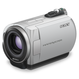 256x256px size png icon of sony handycam purple lens