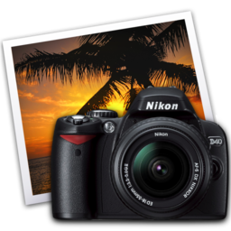 256x256px size png icon of nikon d40 iphoto icon by darkdest1ny