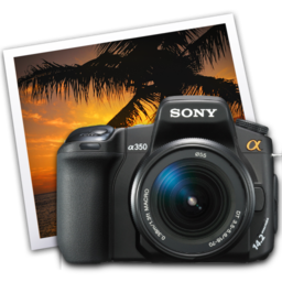 256x256px size png icon of sony a350 iphoto icon by darkdest1ny