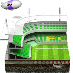 256x256px size png icon of soccer football stadium