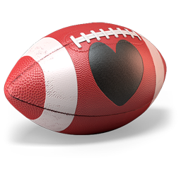 256x256px size png icon of Love Football