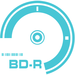 256x256px size png icon of BD R