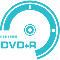256x256px size png icon of DVD plus R
