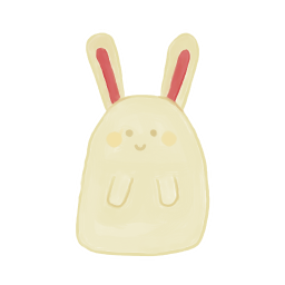 256x256px size png icon of Bunny Happy