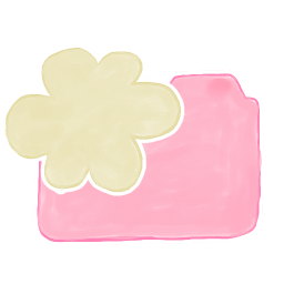 256x256px size png icon of Folder Candy Cloud