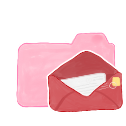 256x256px size png icon of Folder Candy Mail