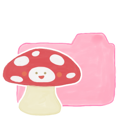 256x256px size png icon of Folder Candy Mushroom