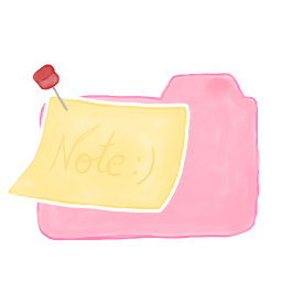 256x256px size png icon of Folder Candy Note