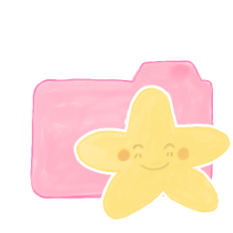 256x256px size png icon of Folder Candy Starry Happy