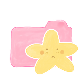 256x256px size png icon of Folder Candy Starry Sad
