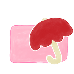 256x256px size png icon of Folder Candy Umbrella