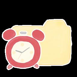 256x256px size png icon of Folder Vanilla Clock