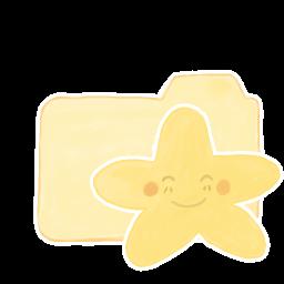 256x256px size png icon of Folder Vanilla Happy