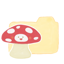 256x256px size png icon of Folder Vanilla Mushroom