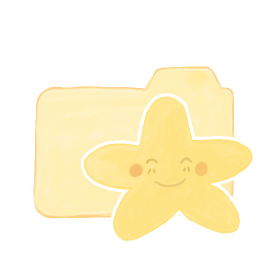 256x256px size png icon of Folder Vanilla Starry Happy