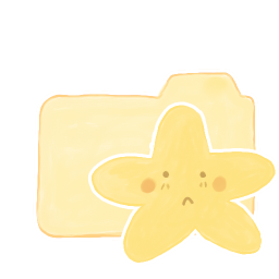 256x256px size png icon of Folder Vanilla Starry Sad