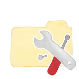 256x256px size png icon of Folder Vanilla Tools