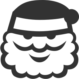 256x256px size png icon of Christmas santa