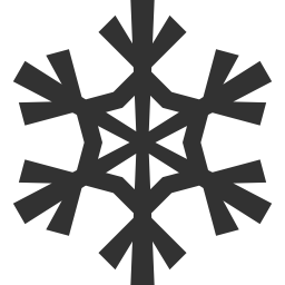 256x256px size png icon of Christmas snowflake