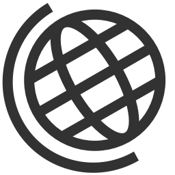256x256px size png icon of Maps globe earth